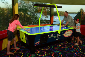 Air hockey at Tan-Tar-A Resort.