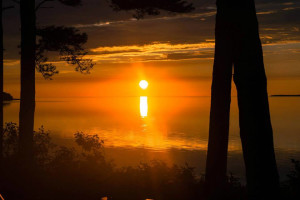 Sunset at Beaver Island Lodge.