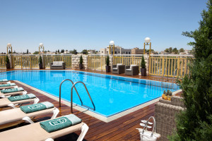 Outdoor pool at Dan Panorama Jerusalem.