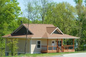 Cottage exterior at Honey Creek Resort.