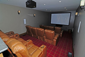 Rental theater at Chalet Village.