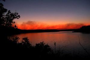 Beautiful sunset at Copper John's Resort.