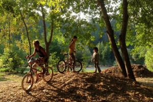 Biking at Giant Redwoods RV Park & Camp.