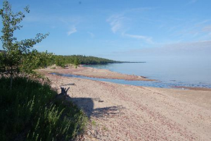 Beach Overlooking Lake Superior at Eagle River Inn.
