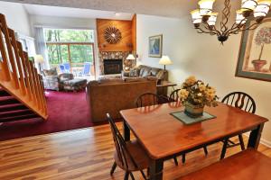 Condo interior at Trout Creek Condominium Resort.