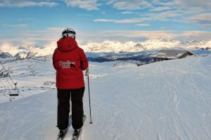 Skiing near Banff Ptarmigan Inn.