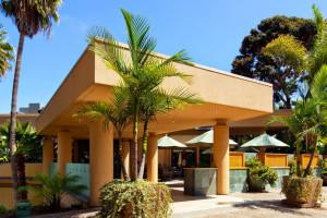 Exterior view of Sheraton La Jolla Hotel.