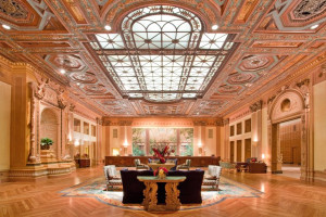 Lobby view at Millennium Biltmore Hotel.