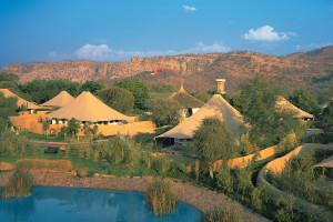 Exterior view of Vanyavilas, An Oberoi Resort.