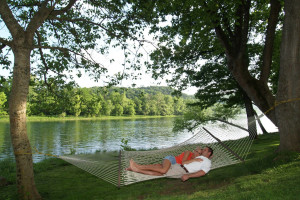 Relaxing at Rainbow Drive Resort.
