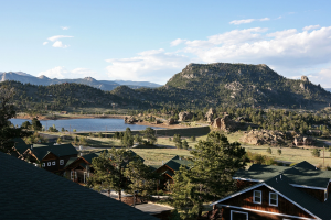 View from Marys Lake Lodge.