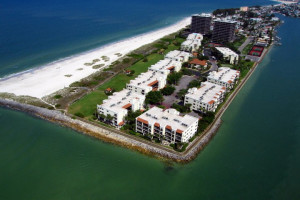 Aerial view of Resort Rentals.