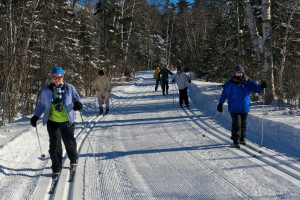 Cross country skiing at Bluefin Bay on Lake Superior.