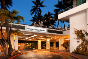 Exterior view of Sheraton Princess Kaiulani Hotel.