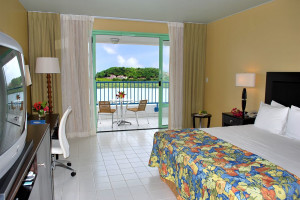 Guest room at Royal Antiguan Beach and Tennis Resort.