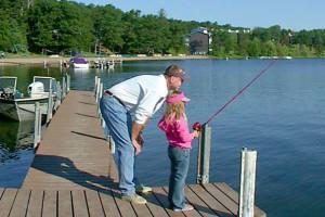 Fishing at Cragun's Resort.