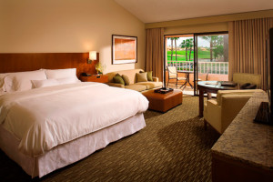 Standard King guest room at The Westin Mission Hills Resort & Spa.