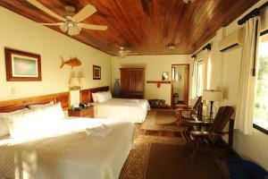 Guest room at Crocodile Bay Lodge.