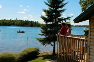 Lakeside cottage at Ruttger's Bay Lake Lodge.
