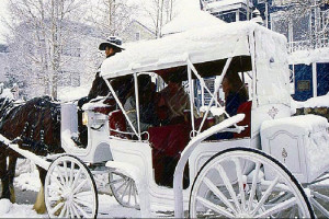 Horse carriage ride at Beaver Run Resort.
