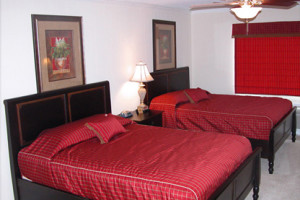 Guest bedroom at Cottages on the Green.