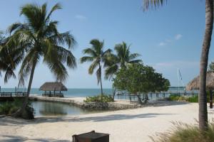 Beach view at Coral Bay Resort.