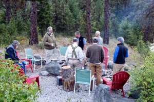 Group at Clark Fork River Lodge.