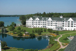 Aerial view of The Osthoff Resort.