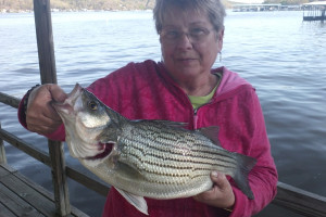 Fishing at Knotty Pine Resort.