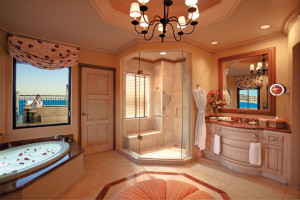 Suite bathroom at  Los Cabos Resort.
