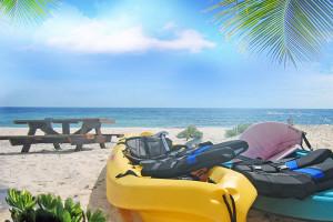 Beach at Cayman Brac Beach Villas.