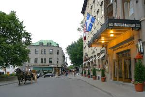 Exterior view of Clarendon Hotel.