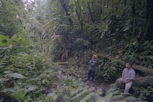 Hiking at Hacienda Primavera Wilderness Ecolodge.