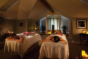 Couple's massage at Gaige House Inn.