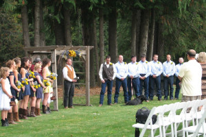 Outdoor wedding at Western Pleasure Guest Ranch.