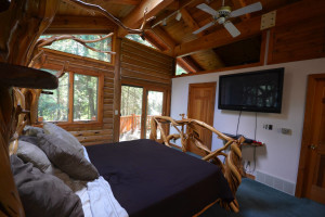 Rental bedroom at Visit Up North Vacation Rentals.