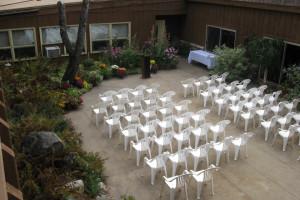 Wedding ceremony at Holiday Acres Resort.