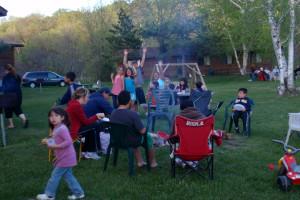 Family reunion at Pine Terrace Resort.