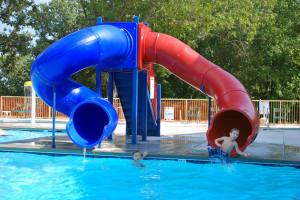 Water slides at Royal Moose Lodge.