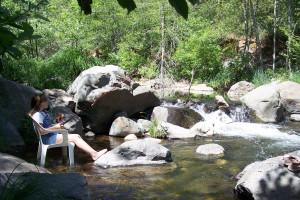 Fishing at Oak Creek Terrace Resort.