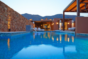 Outdoor pool at Domes of Elounda.