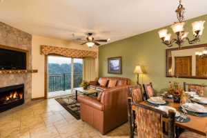 Guest living room at Westgate Smoky Mountain Resort & Spa.