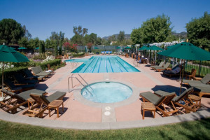 Outdoor pool at Silverado Resort.