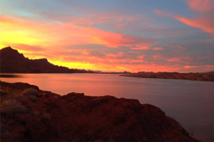 Sunset at Havasu Springs Resort.