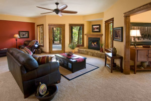Condo living room at Highland Rim Retreats.