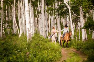 Horseback riding at The Home Ranch.