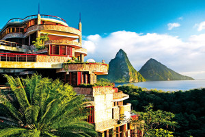Exterior view of Jade Mountain Resort.
