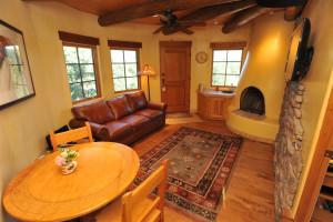 Anasazi Penthouse Suite living room at Inn on La Loma Plaza.