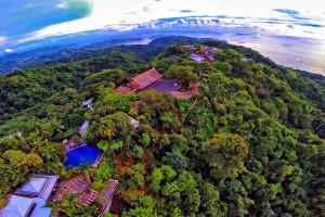 Aerial view of Villa Caletas.