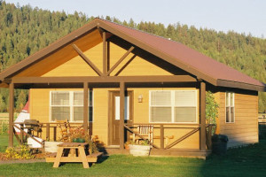 Cabin exterior at Gaynor Ranch & Resort.